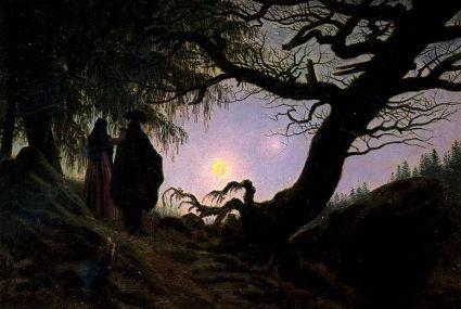 C.D. Friedrich, Paar dat naar de maan kijkt (1830-'35)