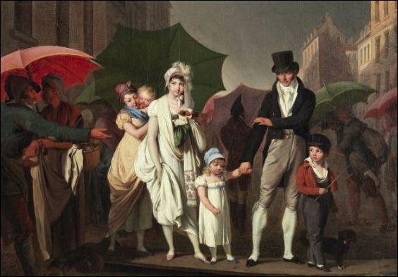 Louis-Léopold Boilly, Le passeur, of L'averse (c. 1803). Louvre, Parijs.