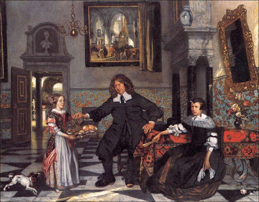 Emanuel de Witte (c. 1616-1692) Portret van een familie. Alte Pinakothek, München