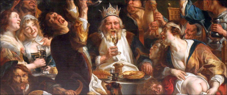 Jacob Jordaens, De koning drinkt (detail). Koninklijk Museum voor Schone Kunsten, Brussel.