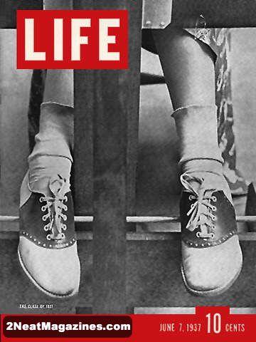 Omslag van Life, 7/6/1937, bij een artikel over de nieuwe lichting college-studenten