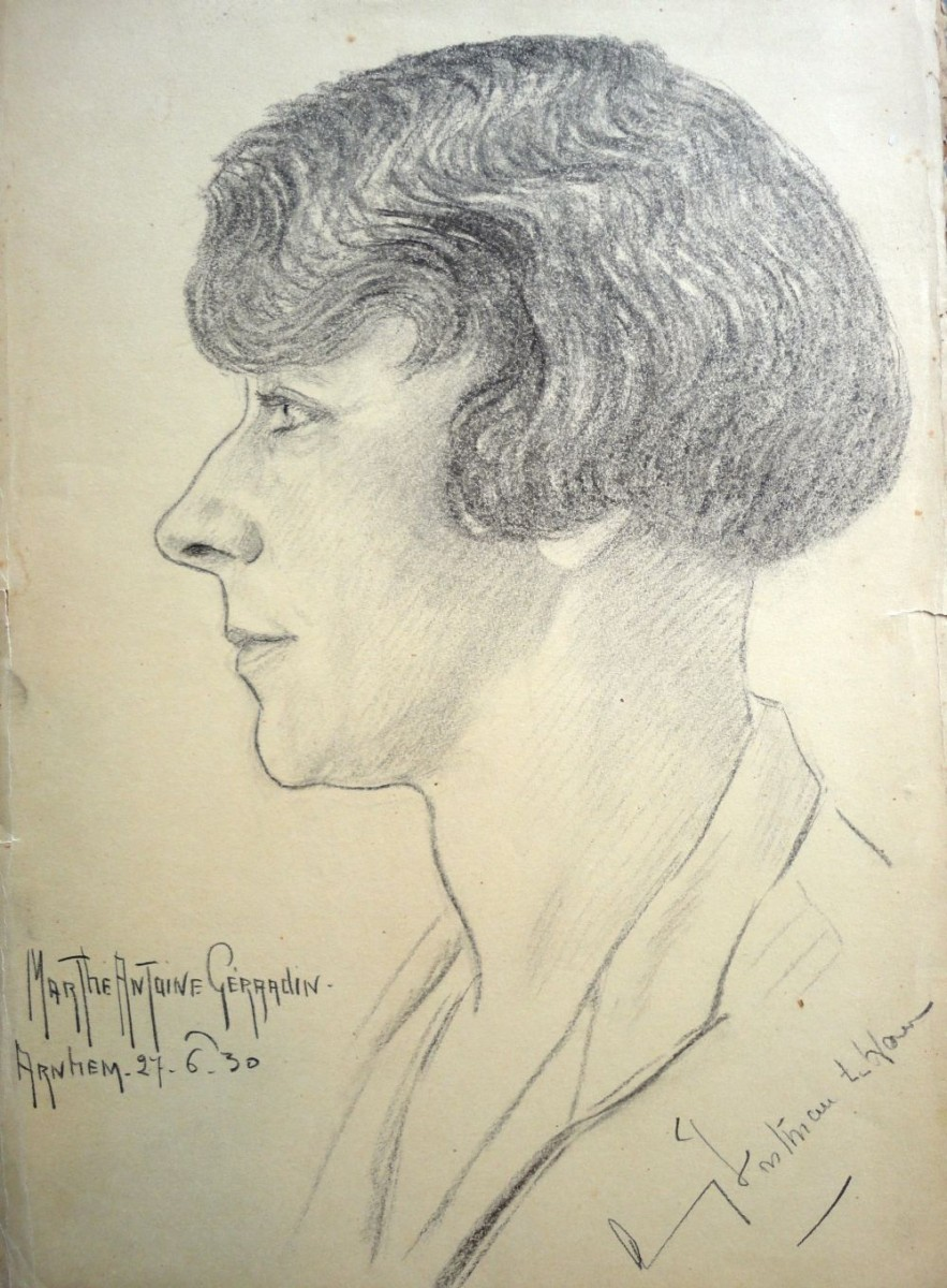 Amy ten Have, in 1930 getekend door Marthe Gérardin