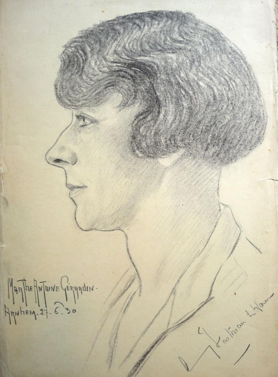 Amy ten Have, in 1930 getekend door Marthe Gérardin