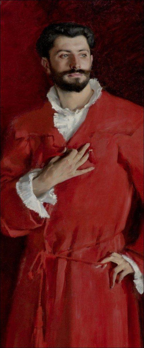 John Singer Sargent, Dr. Samuel-Jean Pozzi, 1881 (detail). Los Angeles, Hammer Museum.