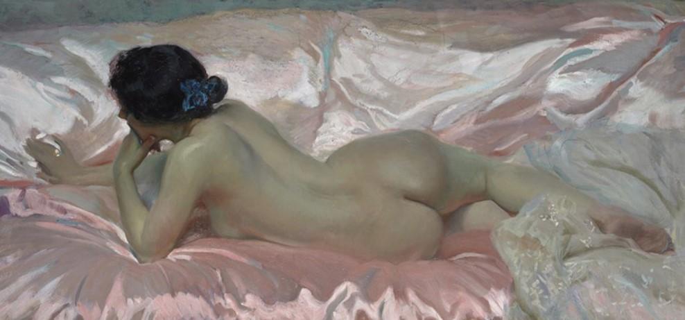 Joaquín Sorolla, Vrouwelijk naakt (1902), uitsnede. Privécollectie Spanje.