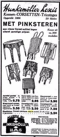 Advertentie in het socialistische dagblad Het Volk, 16 mei 1929