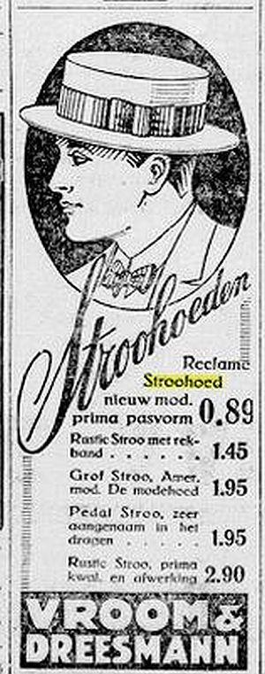Advertentie in De Telegraaf, 16 mei 1924