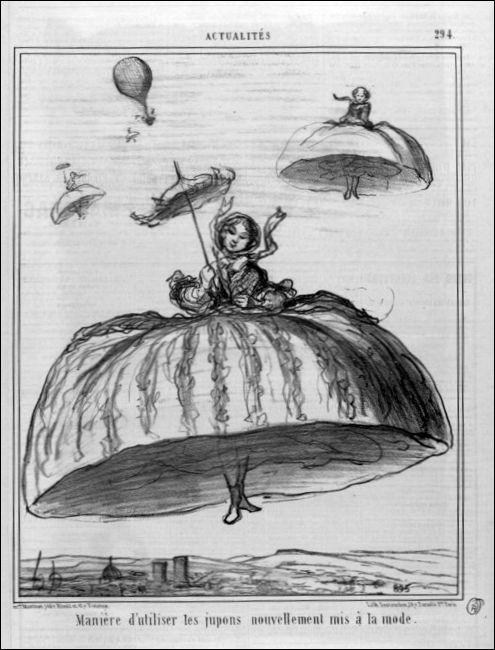 Caricatuur van Honoré Daumier, 1856.