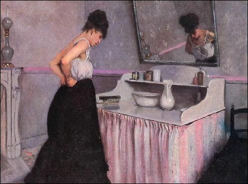 Gustave Caillebotte, Vrouw aan haar toilet (1873)