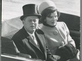 J.F. Kennedy en Jackie op de dag van de inauguratie